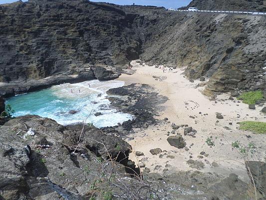 halona cove praia havai