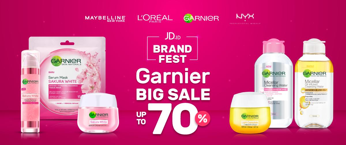 JDID - Promo Brand Fest Garnier Big Sale s.d 70 % (HARI INI)