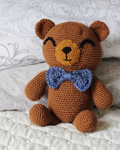 Crochet teddy bear purple bear Childs toy stuffed purple bear small ... | 640x514