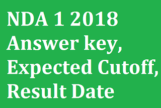 NDA 1 2018 Answer key, Expected Cutoff, Result Date