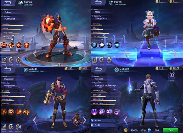5 Hero Mobile Legend Terbaru 2019