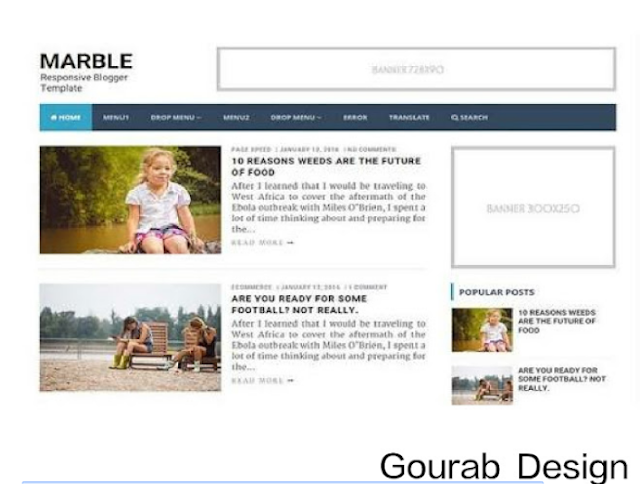 Marble - Responsive Blogger Template 2018