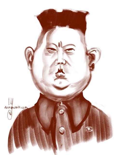 Kim Jong-Un Caricature by Artmagenta