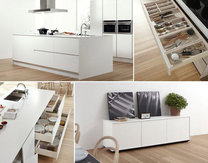 La isla y la peninsula en las cocinas - Interiores de cajones de cocina ...