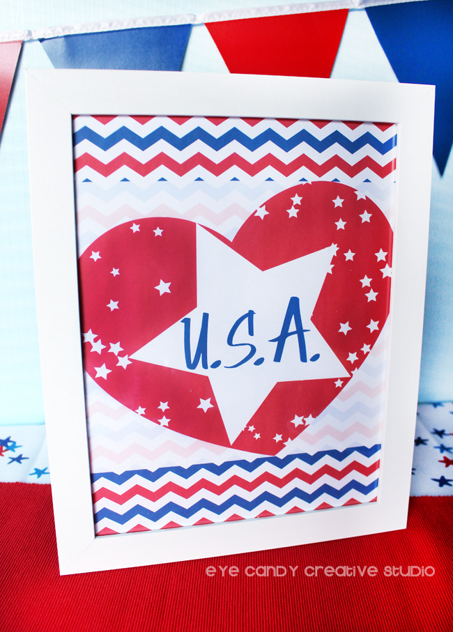 patriotic chebron, i love USA, heart USA, american freebies, USA art