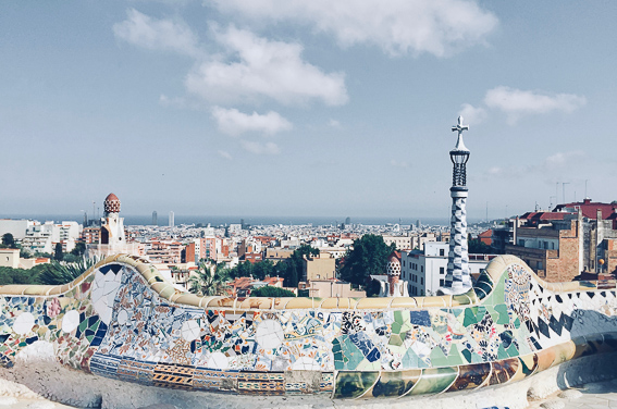 Parque Guell. Barcelona. Gaudi en España