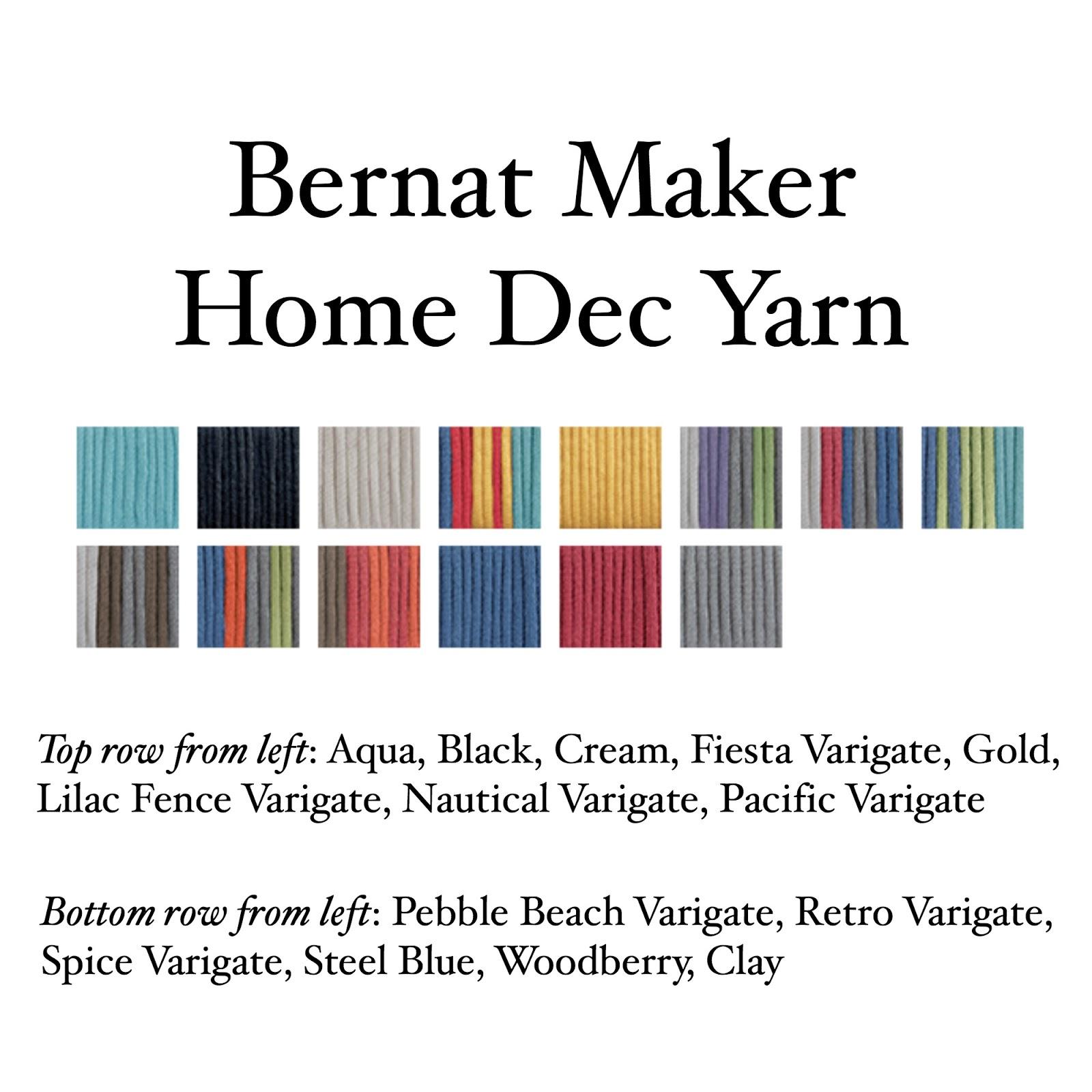 Bernat Maker Home Dec Yarn Fabric Woodberry
