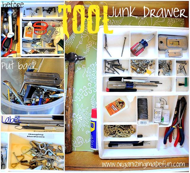 Tool Junk Drawer :: OrganizingMadeFun.com