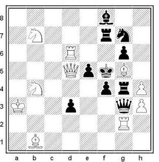 Problema de mate en 2 compuesto por Miguel Uris (3ª Mención, ChessStar 2016)