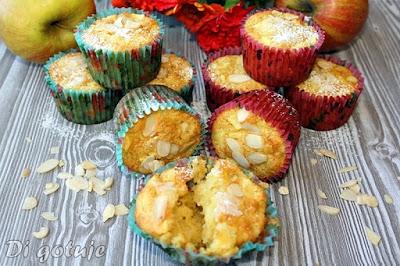 Muffinki z jabłkami i olejem kokosowym (długa świeżość)