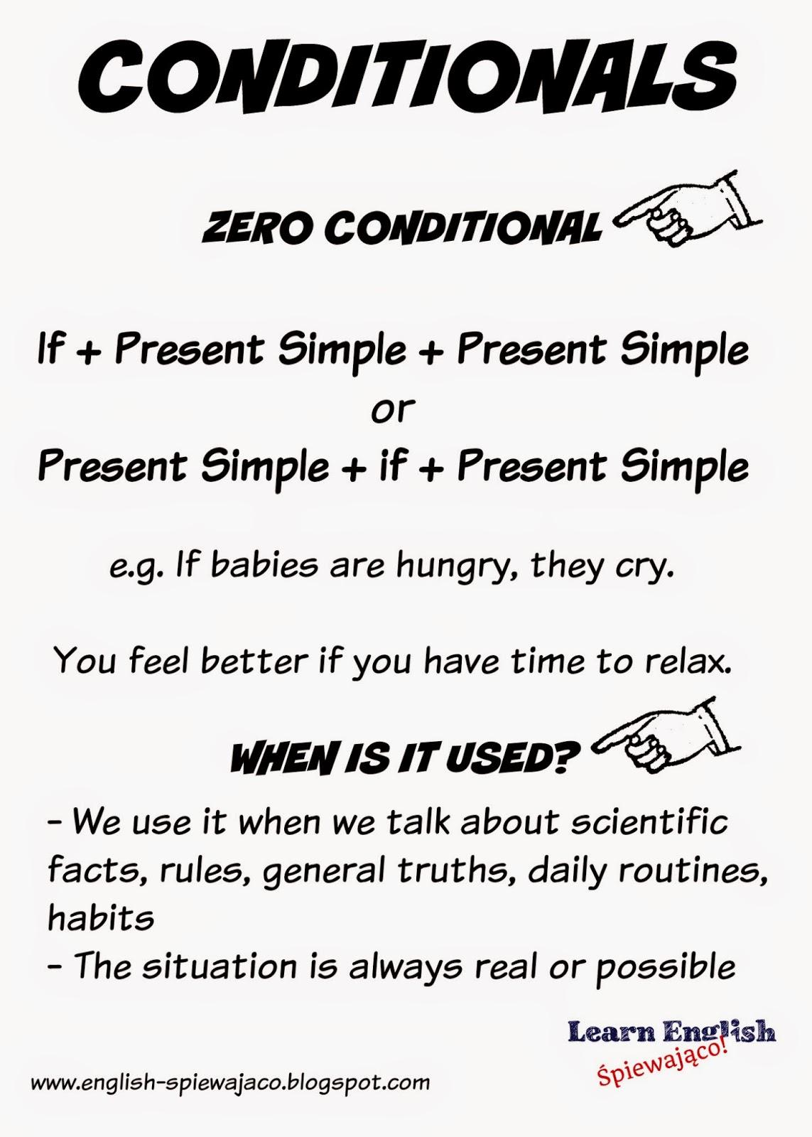 Conditionals Zero First Second Third