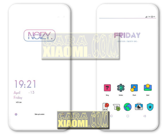 Noizy Theme For Xiaomi Tema Terbaru Untuk MIUI V9 Themes