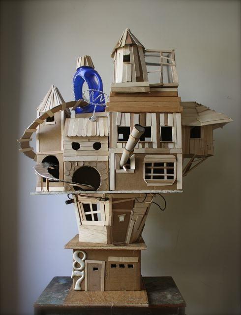 Reciclar cartón haciendo casita de juegos o de muñecas ...