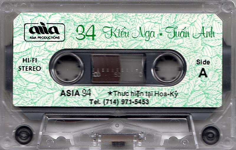 Tape Asia 34 - Kiều Nga, Anh Tuấn - La Maritza (WAV)