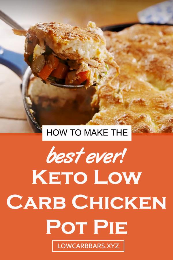 Keto Low Carb Chicken Pot Pie Recipe | Keto Low Carb Recipe | Keto Pie Recipe | Keto Chicken Recipe | Keto Low Carb Dinner Recipe #keto #lowcarb #ketolowcarb #ketopie #potpie #dinner #chicken #ketodinner #ketogenic #ketodiet #lowcarbdinner #ketochicken #chickenrecipe #pie