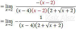 Bentuk akhir dari limit pecahan