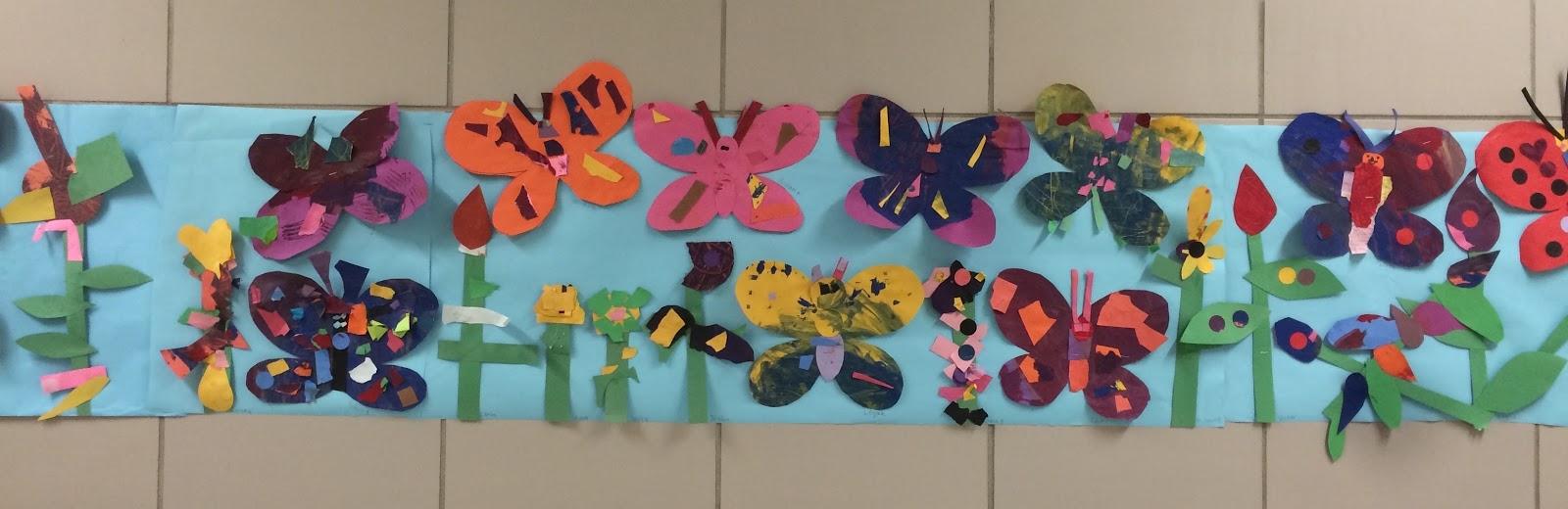 visual art at ps 307 kindergarten and first grade butterfly garden