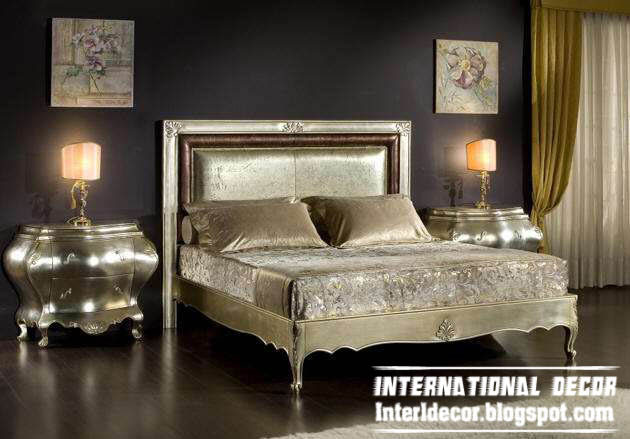 Luxury classic bedrooms furniture italian designs for International decor bed