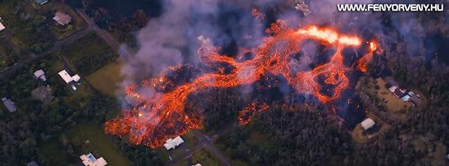 Kilauea vulkán kitörés: Megnyílt a 11.hasadék