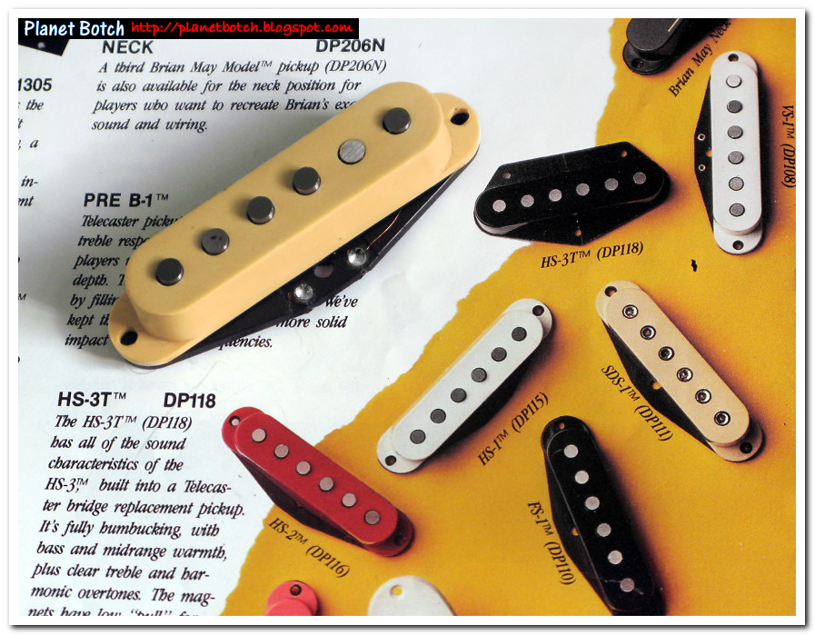 Replacement guitar pickup - with 1980s DiMarzio catalogue