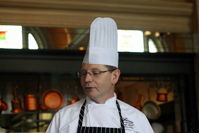 Picture of Chef Serge Jost inside the Harvest Room.