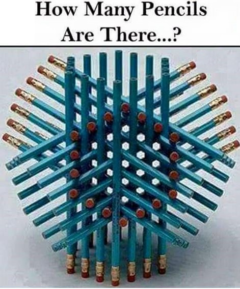 Brain Teaser to find number pencils in the picture