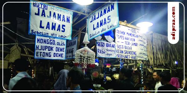 Salah Satu Stand Jajanan Lawas di Pasar Kangen Jogja | adipraa.com