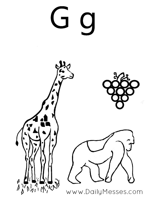 Daily Messes: G is for Green, Grapefruit, and Giraffe