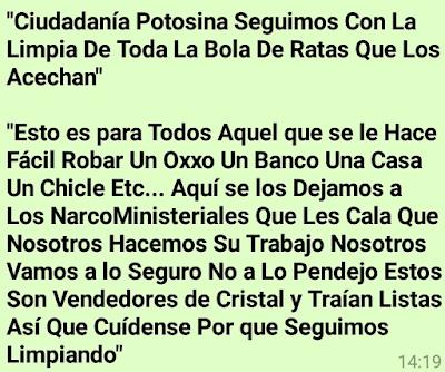 Dejan cuerpos descuartizados y cabeza de mujer en San Luis Potosí