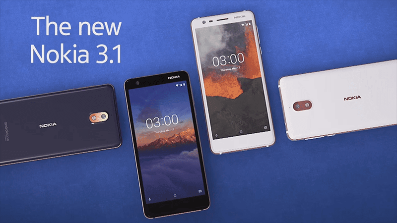 Nokia 3.1 with 5.2-inch HD+ 18:9 screen and Android One OS launched!