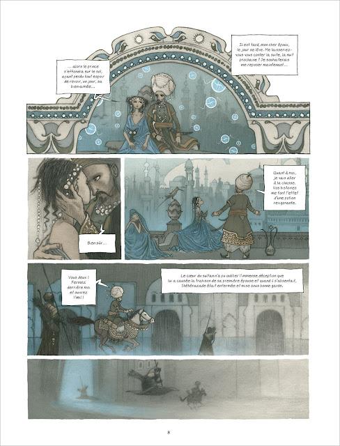 """page de """"La Mille et unième Nuit"""" par Etienne Le Roux et Vincent Froissard chez Soleil"""