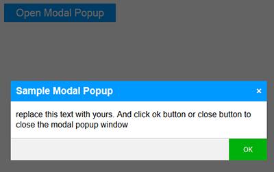 Suresh Sharma | blogs: Creating a modal popup using HTMl CSS
