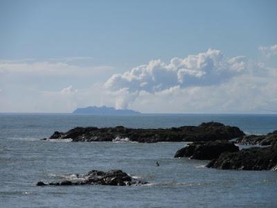 El volcán de la isla White, Nueva Zelanda