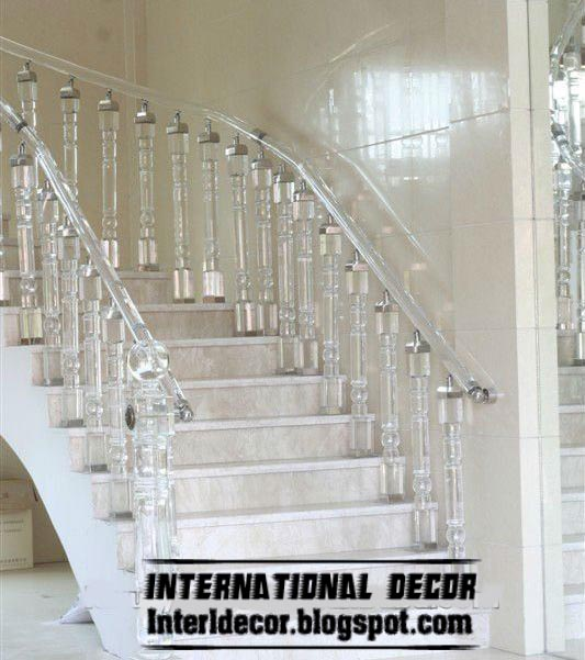 attic stair ideas - Crystal stair railings handrails and crystal stair columns