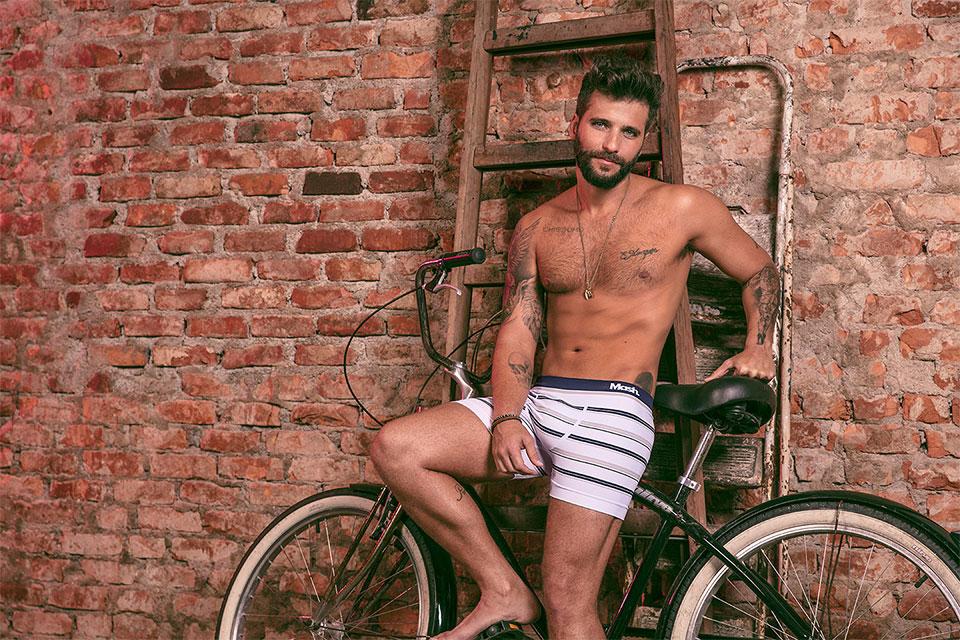 De cueca, Bruno Gagliasso estrela campanha de inverno da Mash. Foto: André Nicolau