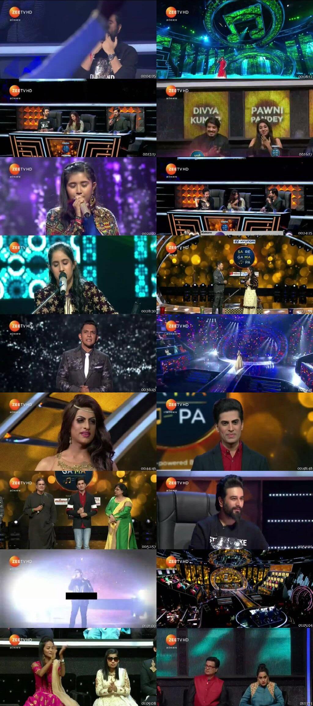 Screenshots Of Hindi Show Sa Re Ga Ma Pa 17th November 2018 Episode 10 300MB 480P HD
