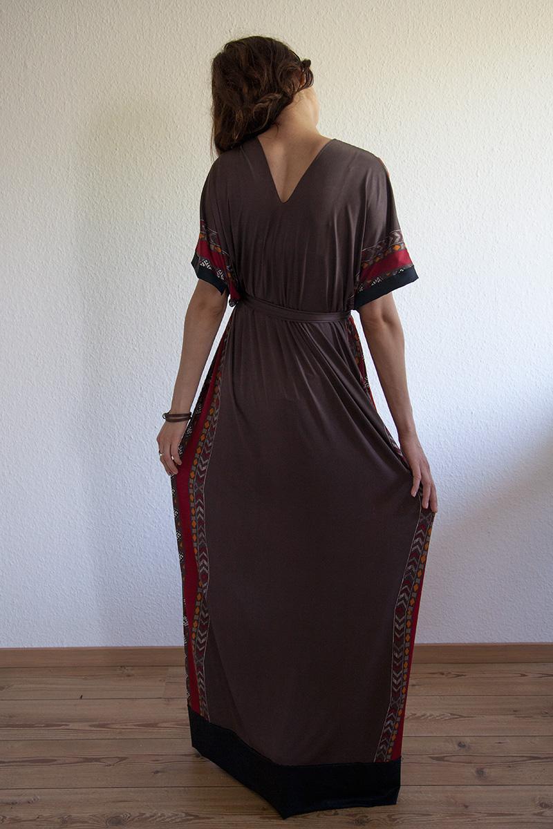 maxi kleider mit kurzem arm