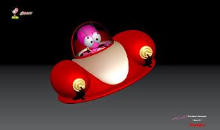 """BLiP"" - Orbit's ""Astroglyder"" - Character design, concept art & ZBrush Sculpture © Pierre Rouzier"