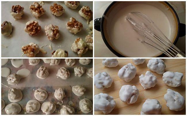 Preparación de las nueces glaseadas