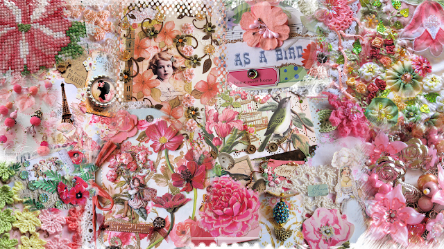 Free shabby chic digital desktop wallpaper by Ingeborg van Zuiden