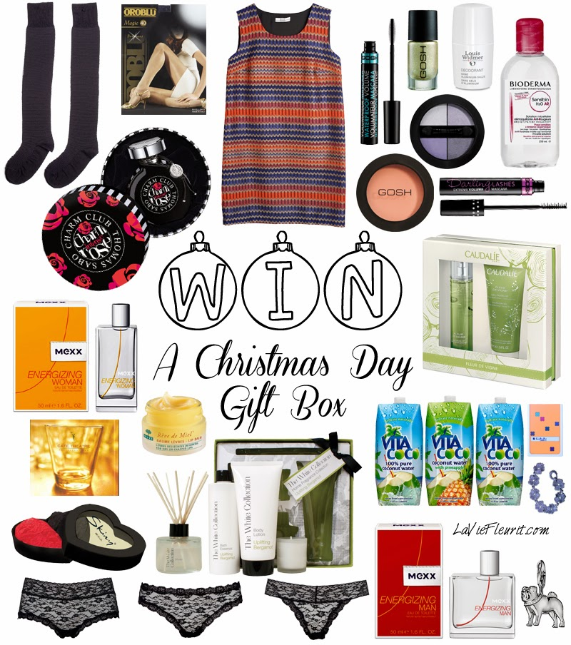 Holiday Give-Away | Christmas Day Gift Box worth over € 750 ! Holiday Give-Away | Christmas Day Gift Box worth over € 750 ! Giveaway, Win, Winactie, Holiday, Fashion, Beauty, Lifestyle, blog, Brands, Must Have, Wish List, Accessories, Make-Up, WINNEN, Xmas, Kerst, Bblogger, Fashionblogger, Mode, Modeblogger, Lifestyleblogger, Ella Luna, Parfum, bodylotion, accessoires, GOSH, Mexx, Thomas Sabo, Skiny, Lingerie, Black & Blanche, Caudalie, Cafe Theathre, Music, CD, Bioderma, Verzorging, Nuxe, Oroblu, Louis Widmer, Vita Coco, La Vie Fleurit, Blogger, Fleur Feijen,