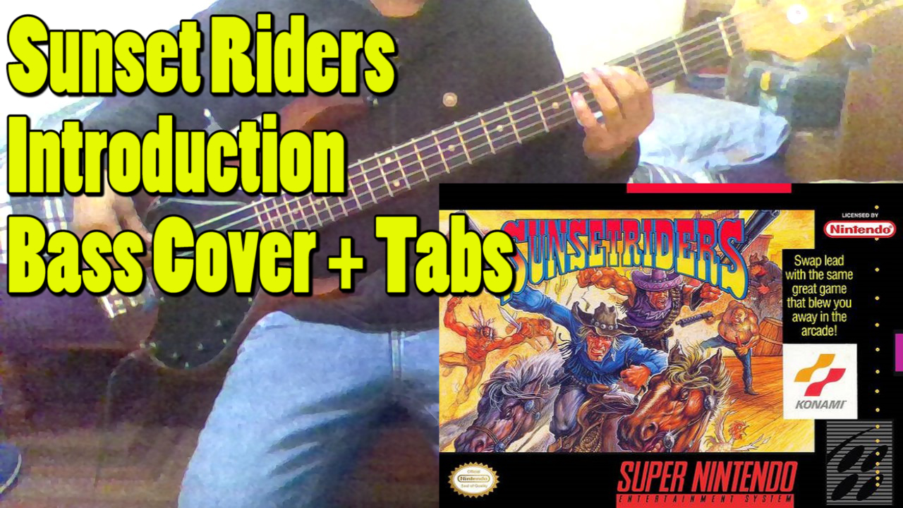 ADREIMBASS: Sunset Riders - Introduction (Bass Cover + Tabs)