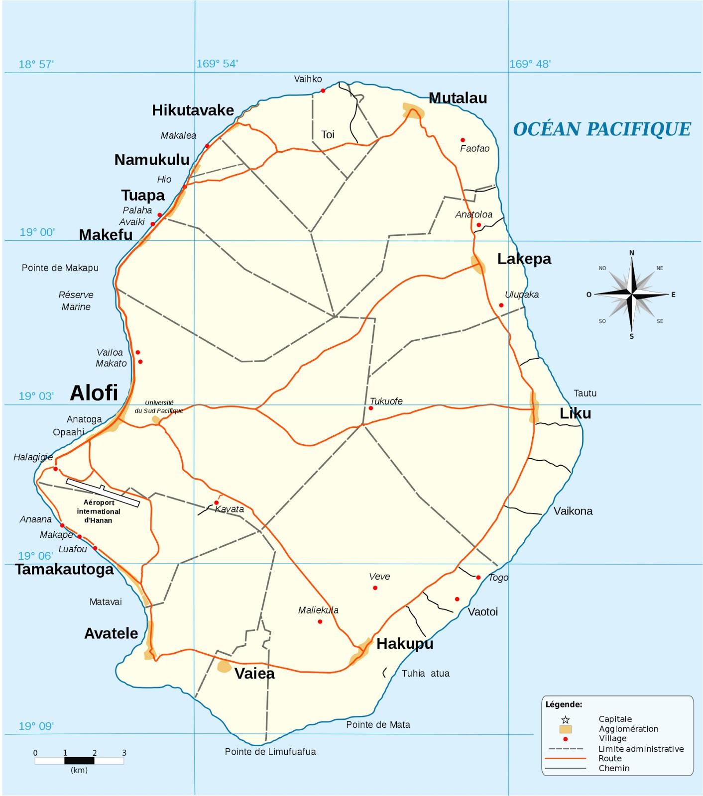 Mapas de Niue | Nova Zelândia