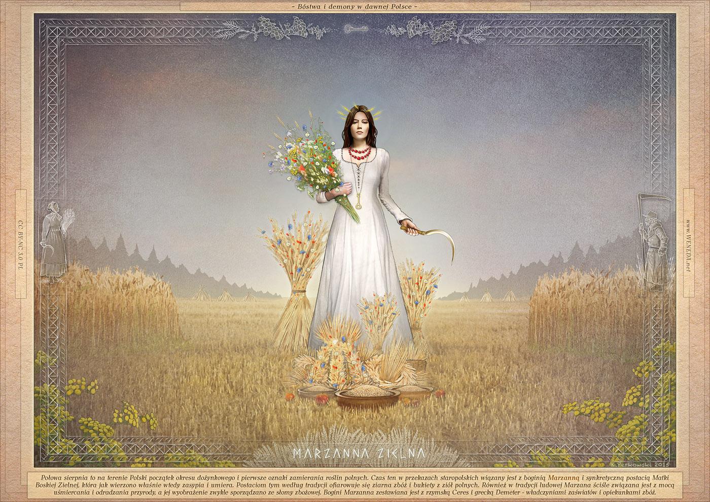 bogini polska, Marza, pani życia i śmierci, żniwa, słowiańskie wierzenia