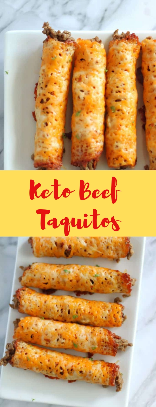 Keto Beef Taquitos #TAQUITOS #BEEF #KETO #KETORECIPES