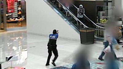 Mall security-police chase-shoot armed shoplifter in Arlington TX mall
