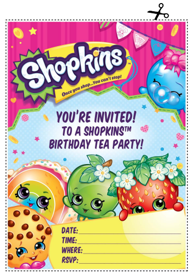 photo about Shopkins Printable Invitations identify Musings of an Common Mother: Shopkins printables