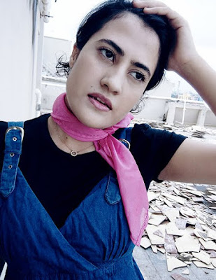 Zara Top, denim Dress,pink Scarf , indian style blogger