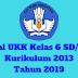 Soal UKK Kelas 6 SD/MI Kurikulum 2013 Tahun 2019 - Homesdku