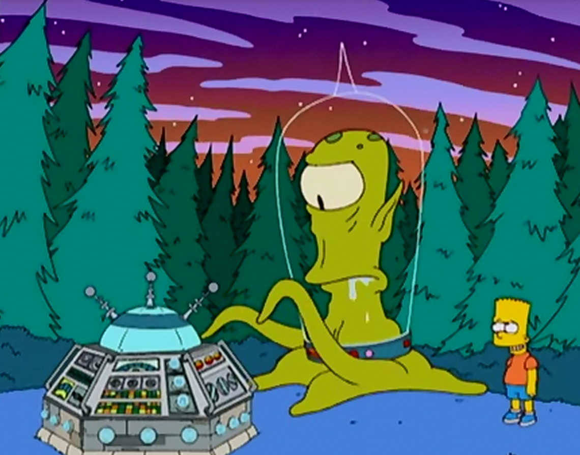 Image result for ET Go Home simpsons